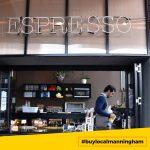 Man making coffee at Riddik Cafe #buylocalmanningham