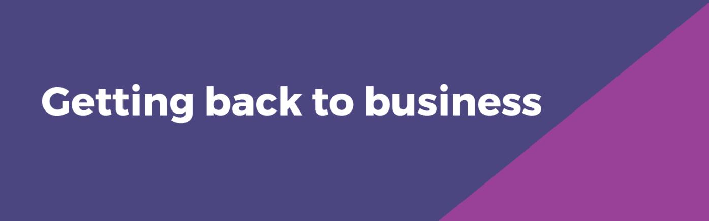 Get back to business slider MB website